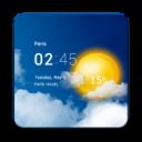 Transparent weather clock